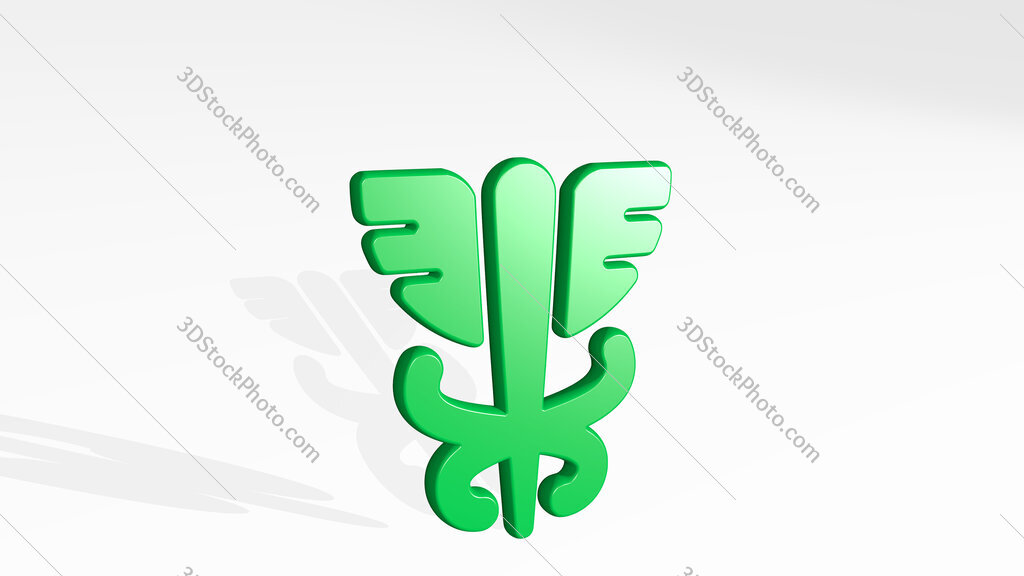 medical hospital 3D icon casting shadow