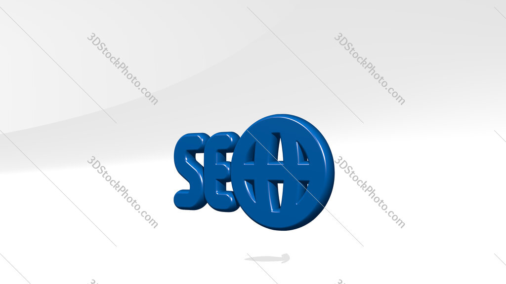 seo network 3D icon casting shadow