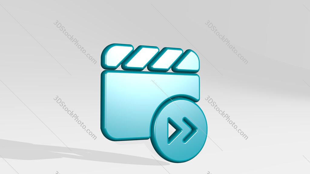 controls movie forward 3D icon casting shadow