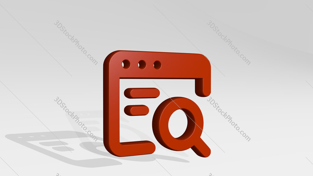 app window search text 3D icon casting shadow