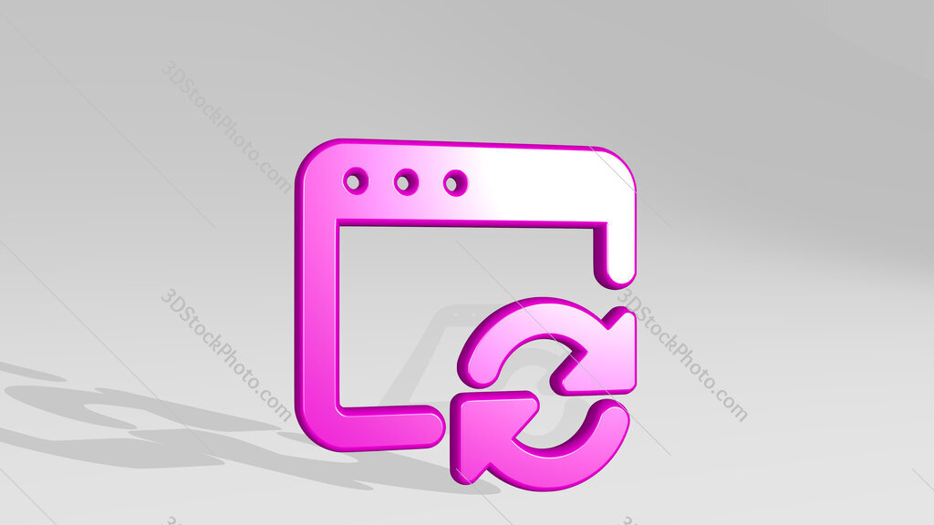 app window sync 3D icon casting shadow