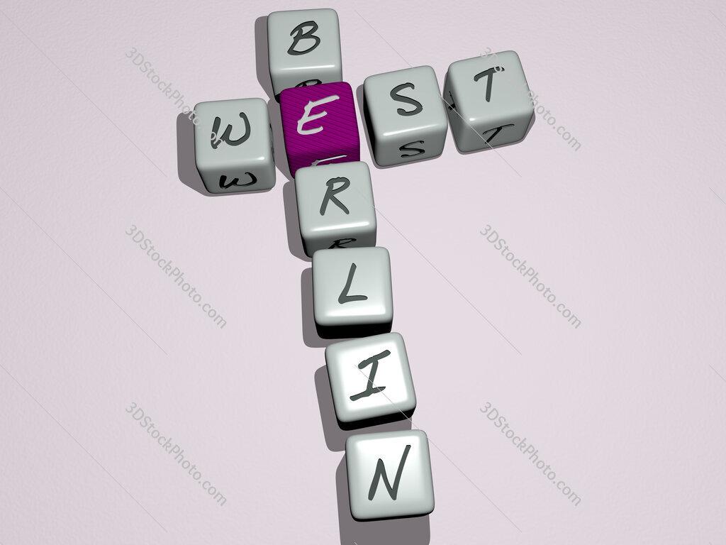 West Berlin crossword by cubic dice letters