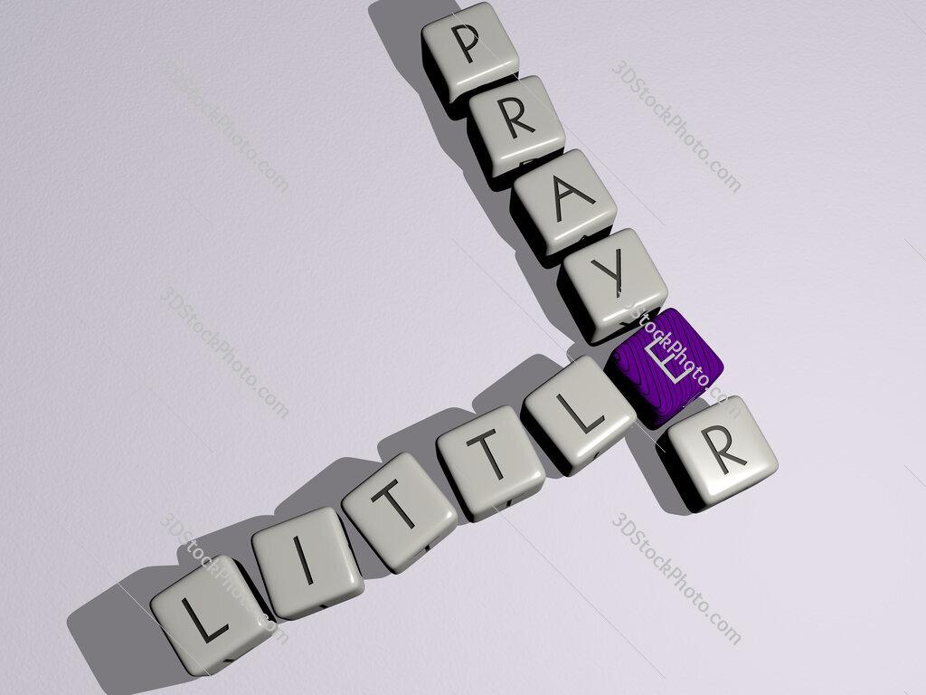 little prayer crossword by cubic dice letters