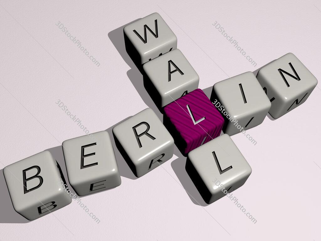 Berlin Wall crossword by cubic dice letters
