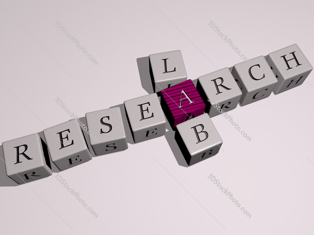 research lab crossword by cubic dice letters
