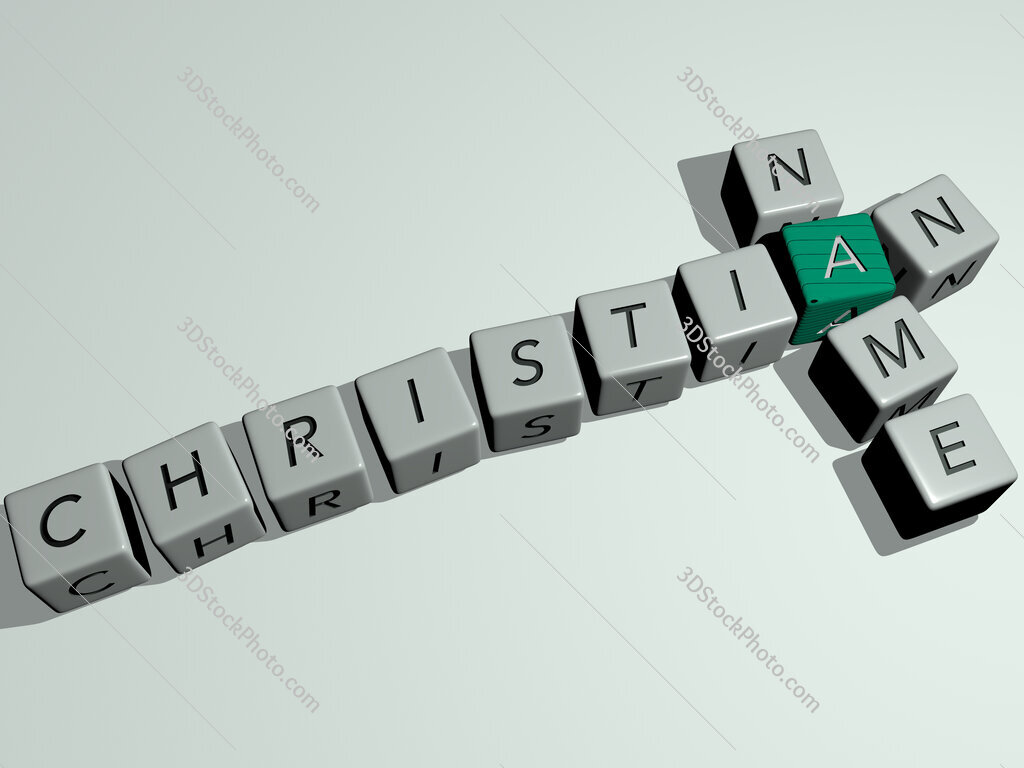 christian name crossword by cubic dice letters