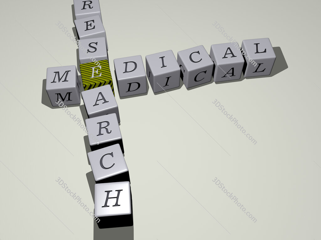 medical research crossword by cubic dice letters
