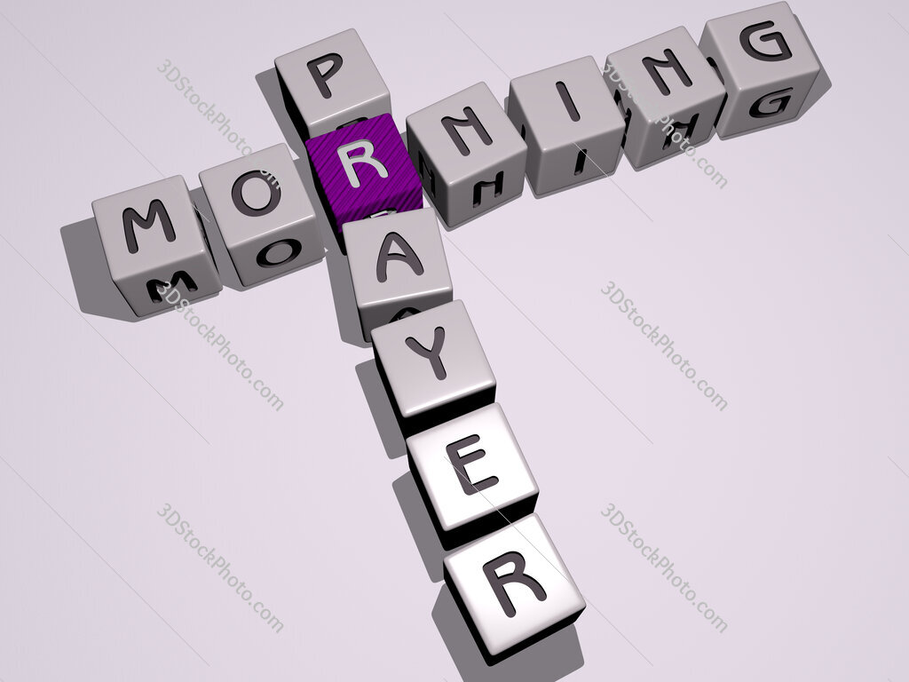 morning prayer crossword by cubic dice letters