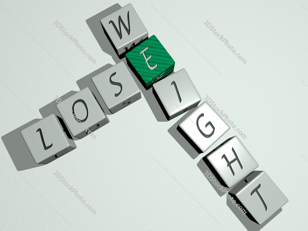 lose weight crossword by cubic dice letters