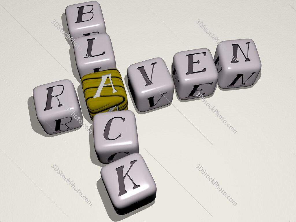 raven black crossword by cubic dice letters