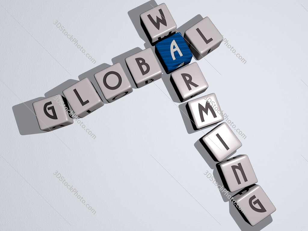 Global warming crossword by cubic dice letters