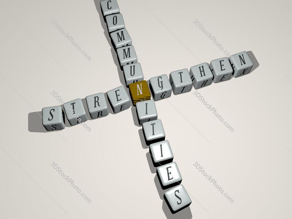 strengthen communities crossword by cubic dice letters