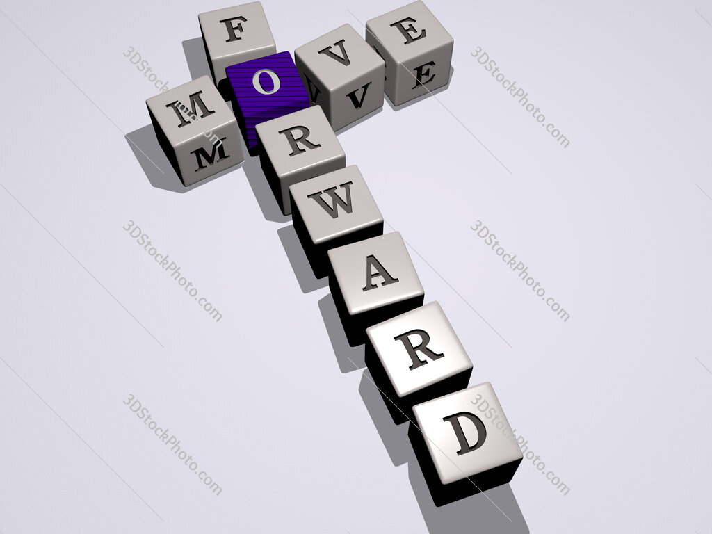 move forward crossword by cubic dice letters