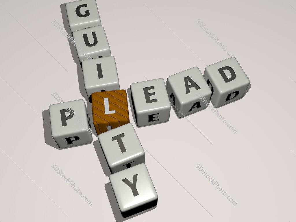 plead guilty crossword by cubic dice letters
