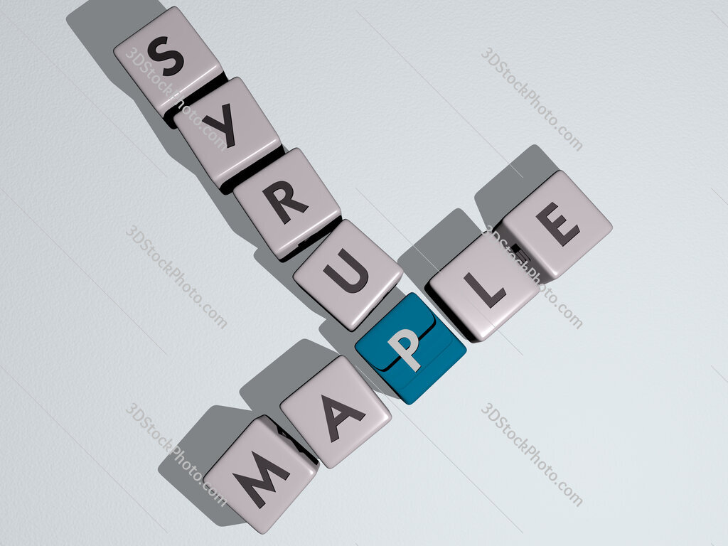 maple syrup crossword by cubic dice letters
