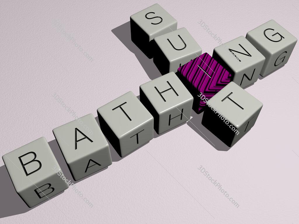 bathing suit crossword by cubic dice letters