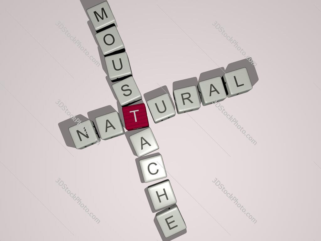 natural moustache crossword by cubic dice letters