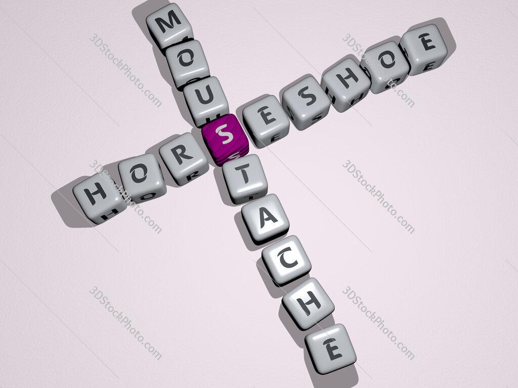 horseshoe moustache crossword by cubic dice letters