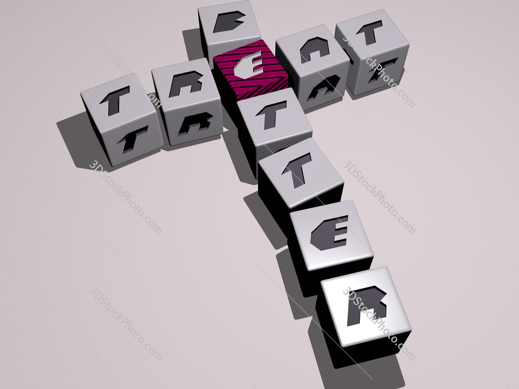 treat better crossword by cubic dice letters