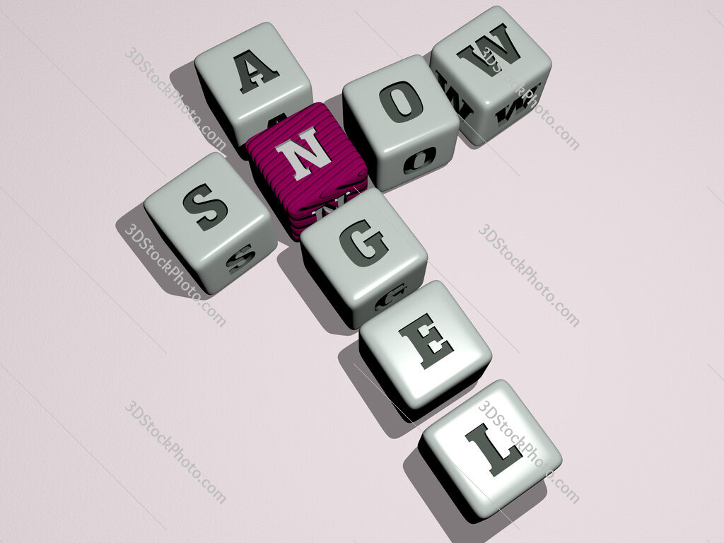 snow angel crossword by cubic dice letters