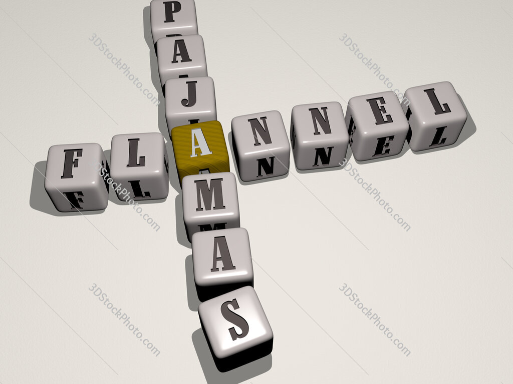 flannel pajamas crossword by cubic dice letters