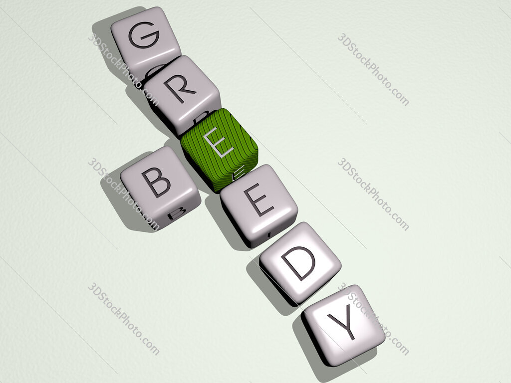 be greedy crossword by cubic dice letters