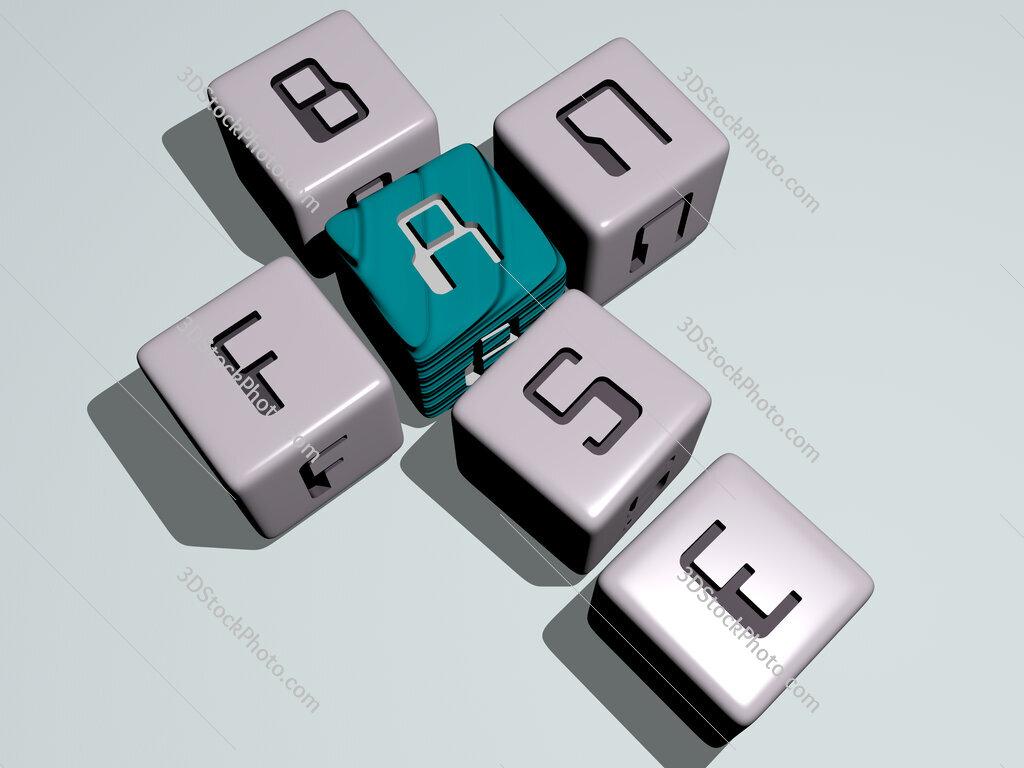 fan base crossword by cubic dice letters