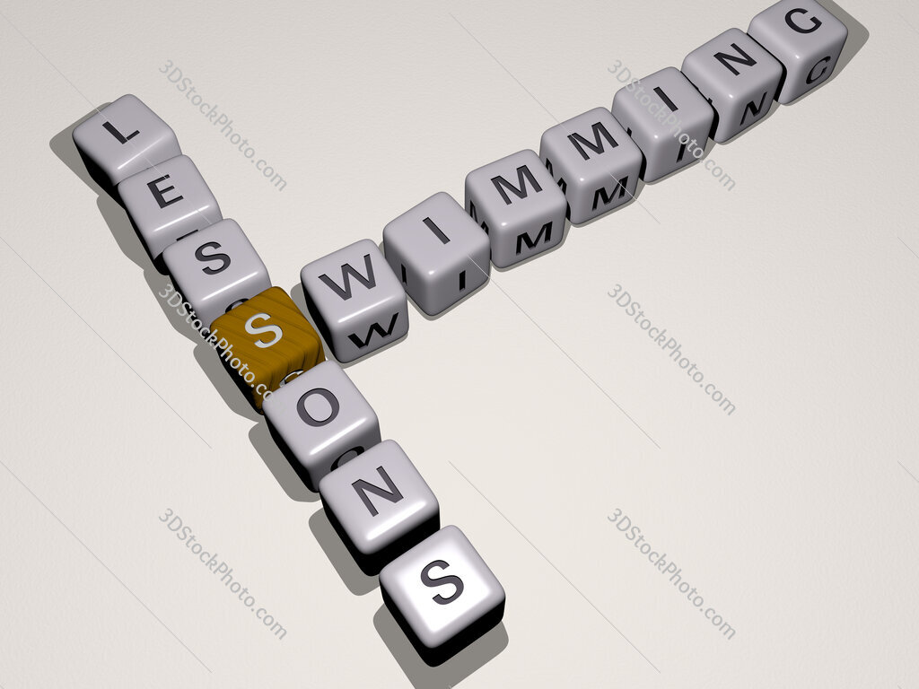 swimming lessons crossword by cubic dice letters