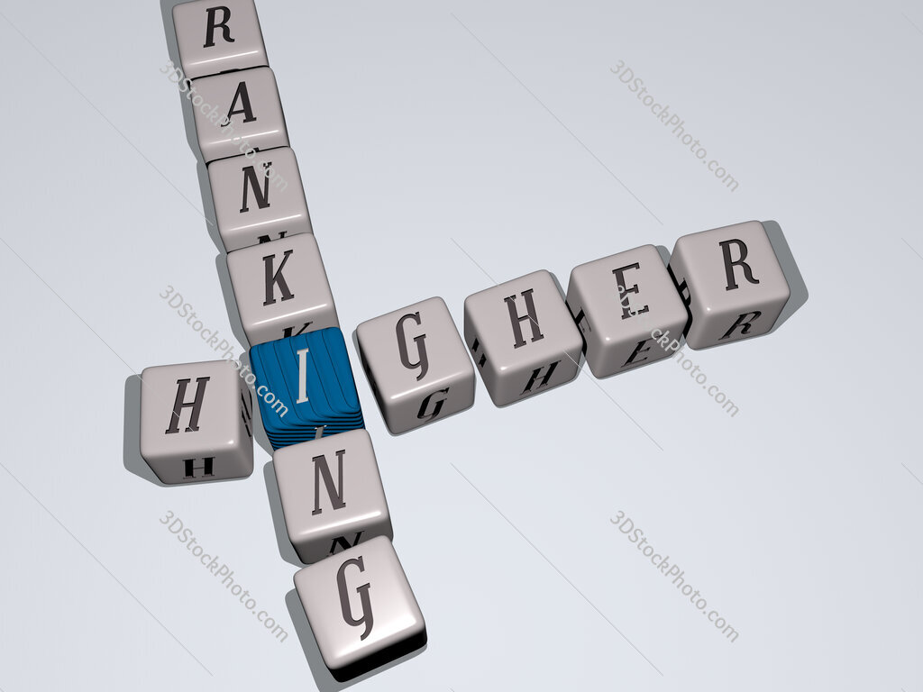 higher ranking crossword by cubic dice letters