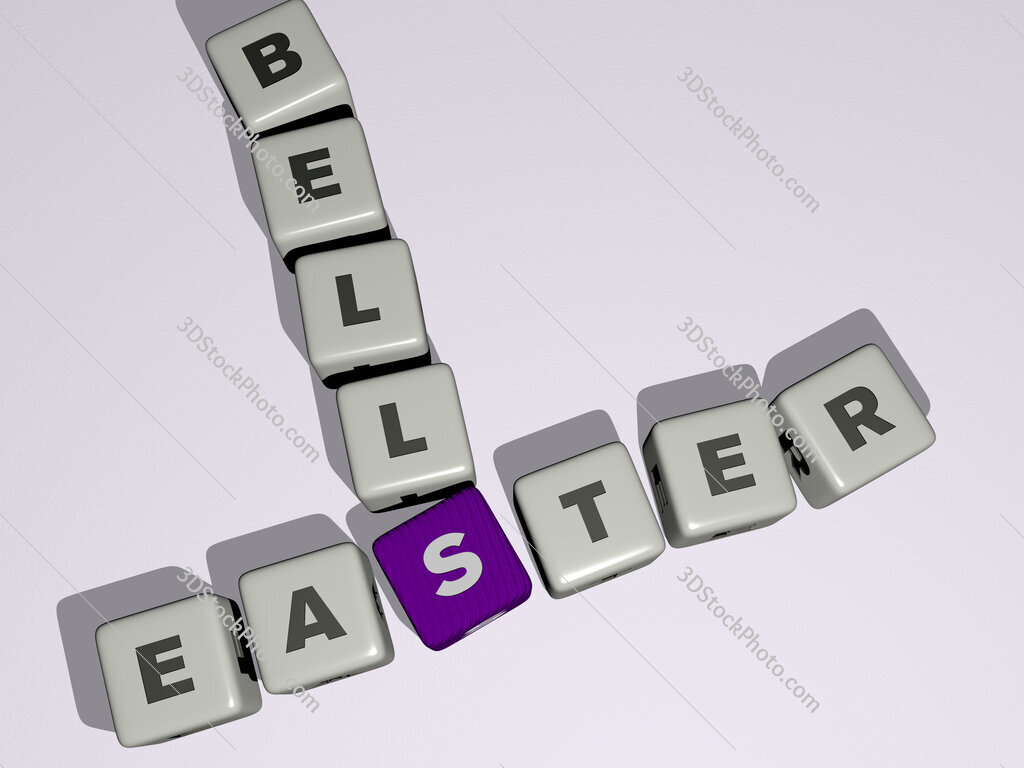 Easter bells crossword by cubic dice letters