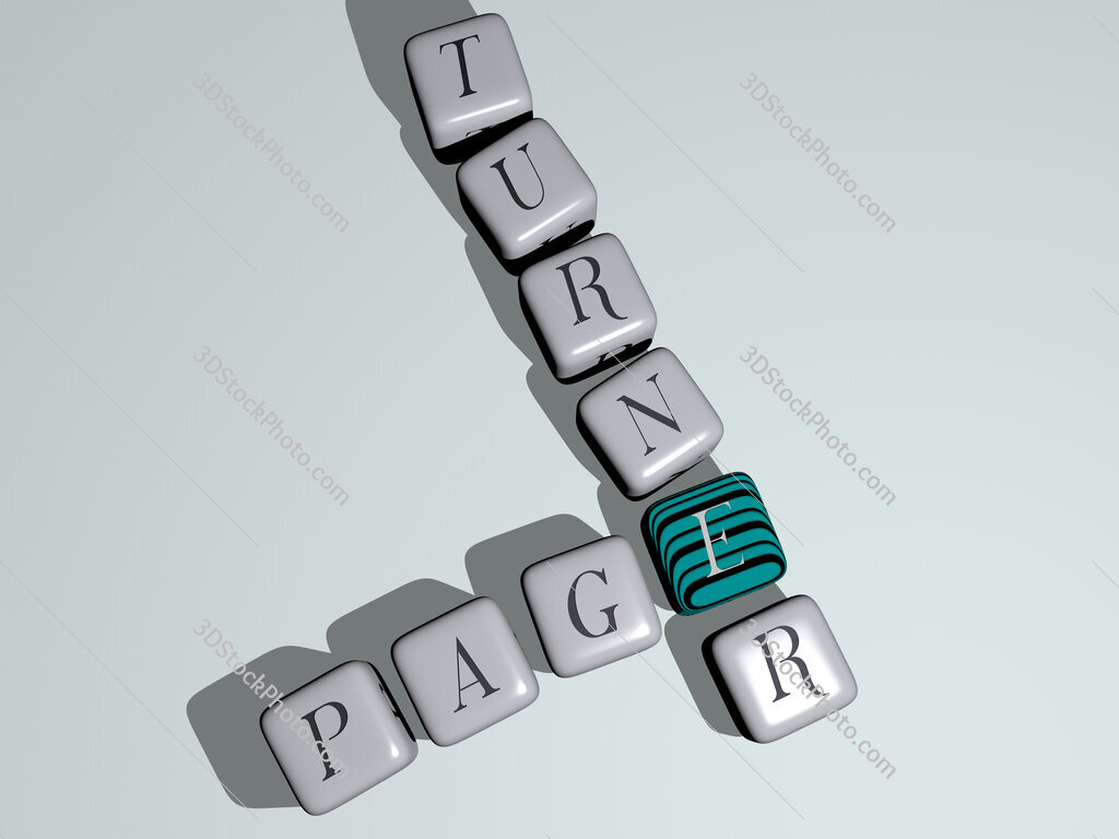 page turner crossword by cubic dice letters