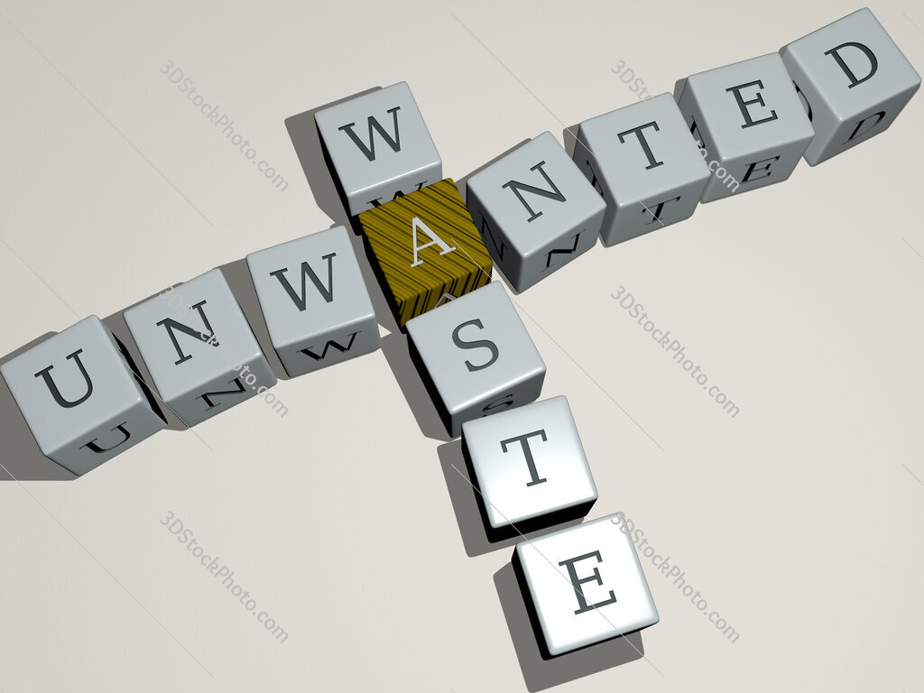 unwanted waste crossword by cubic dice letters