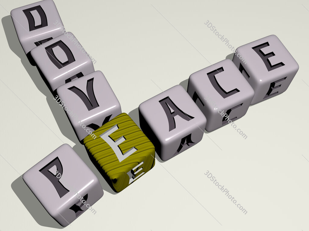 peace dove crossword by cubic dice letters