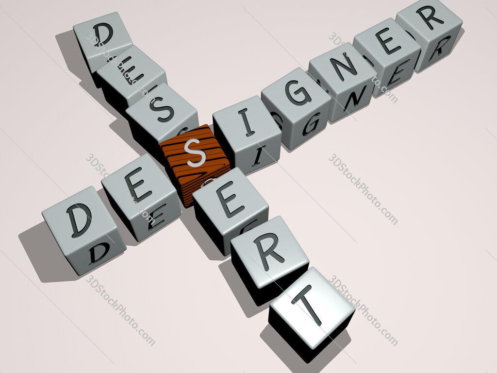designer dessert crossword by cubic dice letters