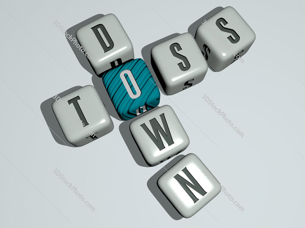 toss down crossword by cubic dice letters