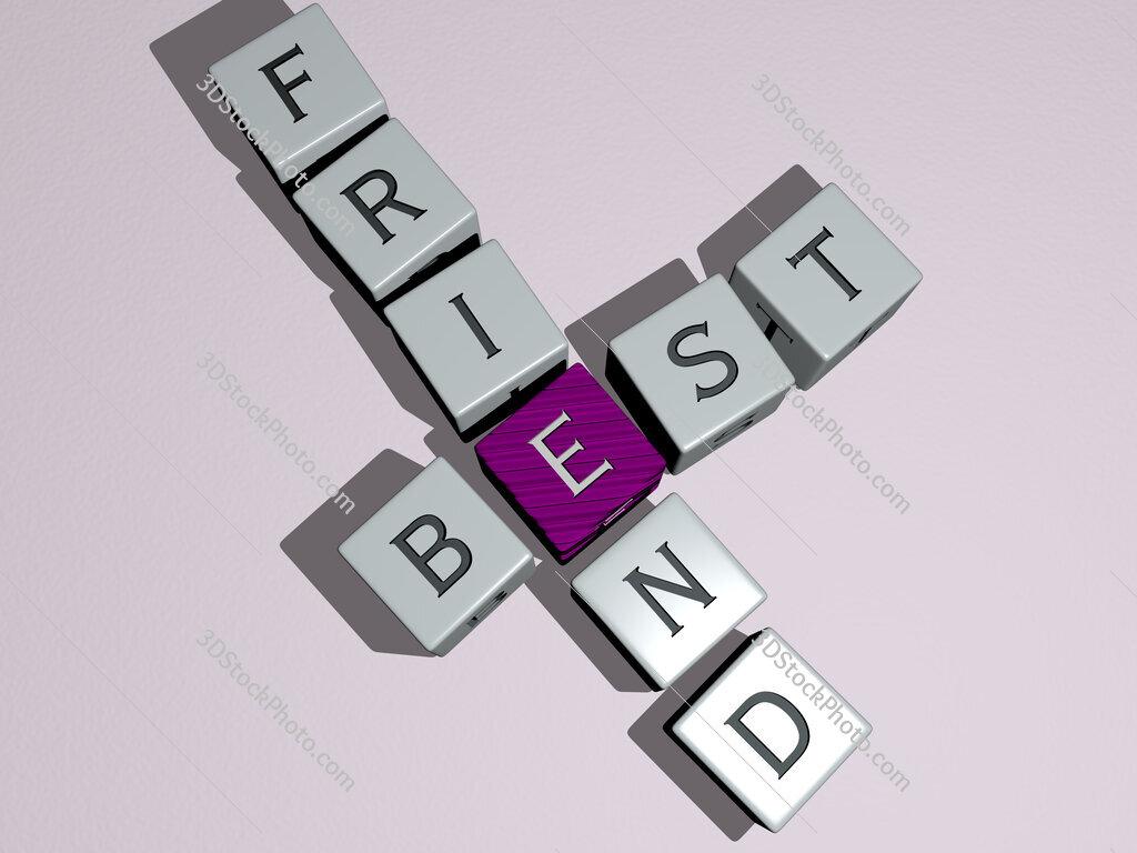 best friend crossword by cubic dice letters