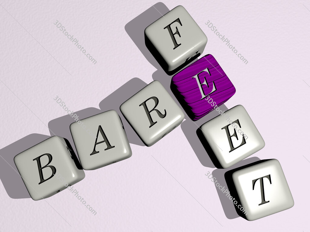 bare feet crossword by cubic dice letters