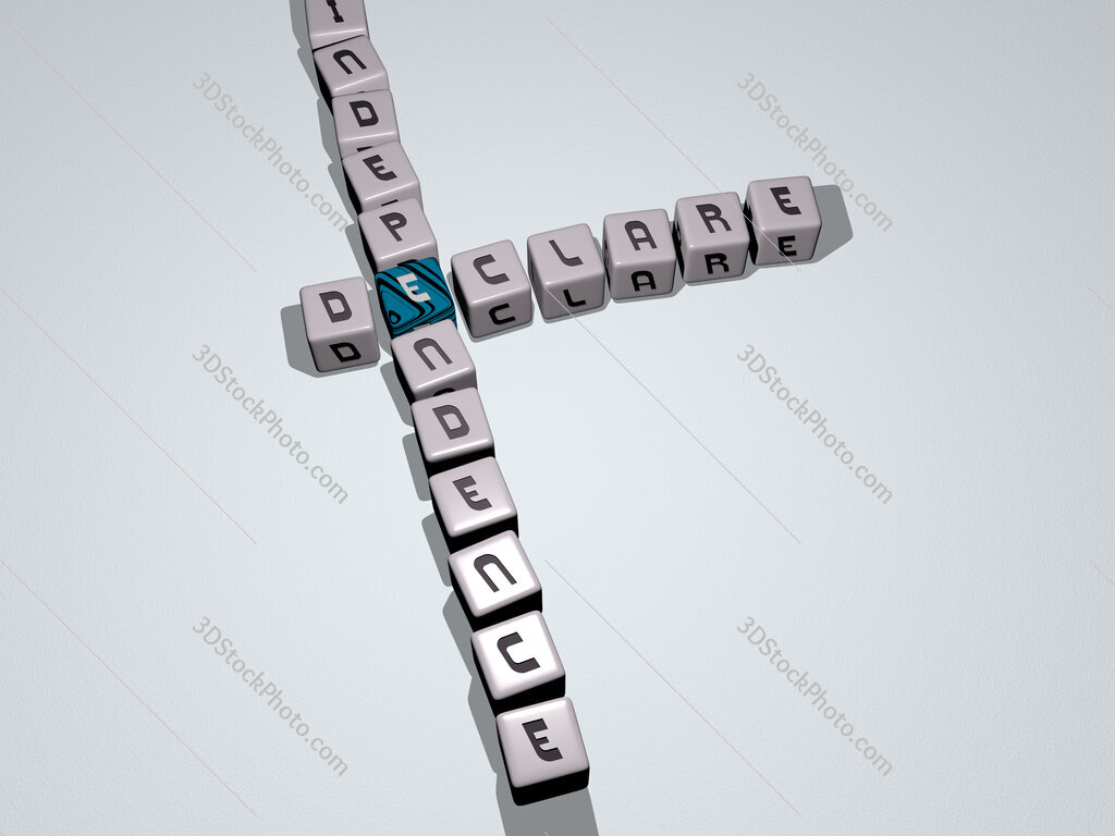declare independence crossword by cubic dice letters