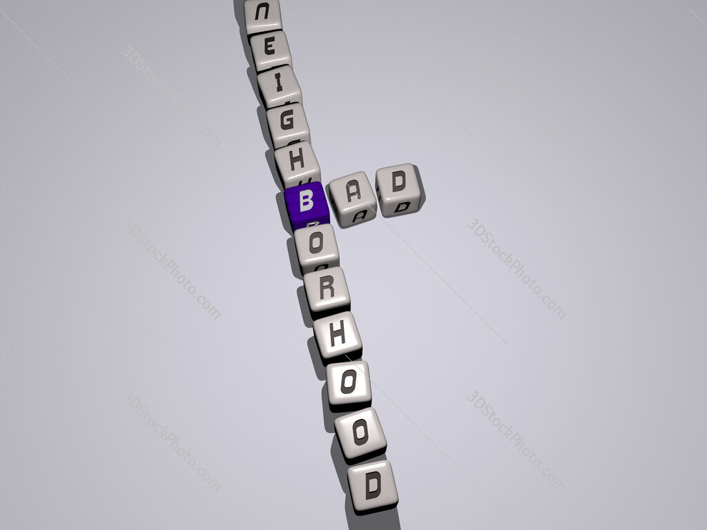bad neighborhood crossword by cubic dice letters