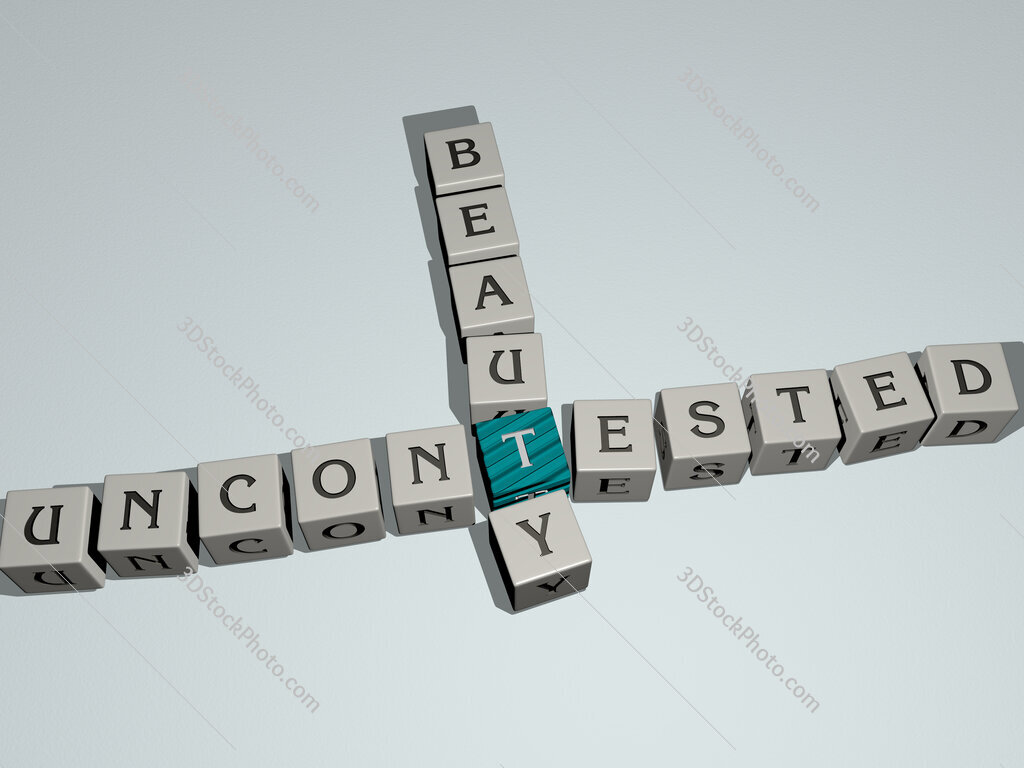 uncontested beauty crossword by cubic dice letters