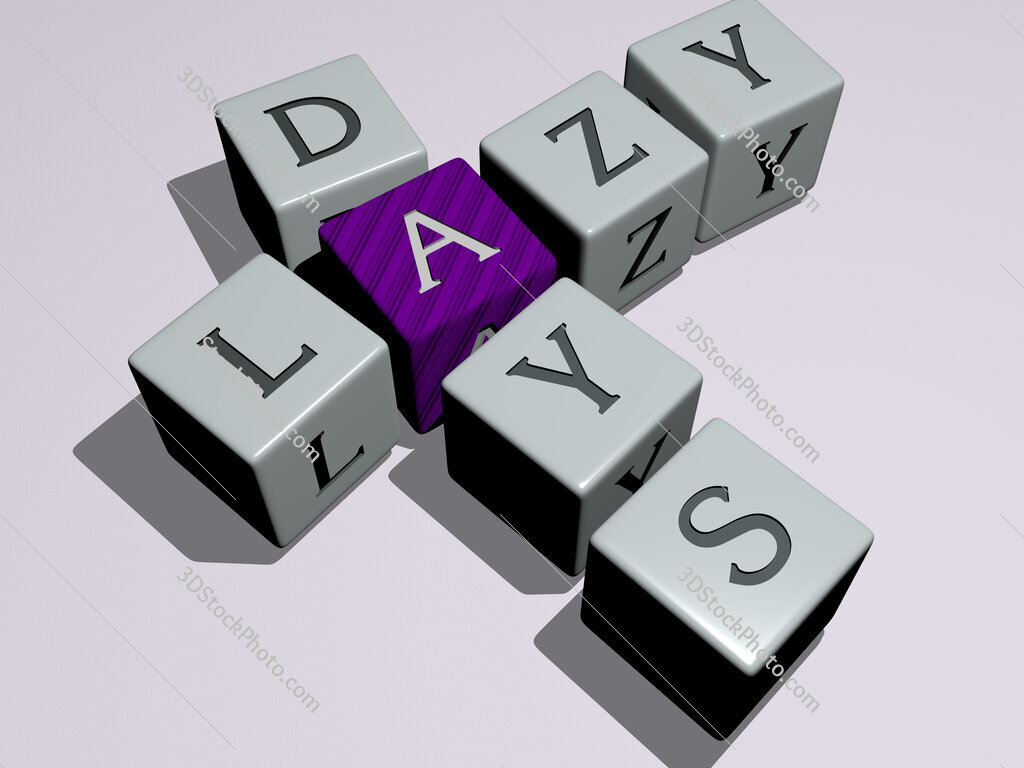 lazy days crossword by cubic dice letters