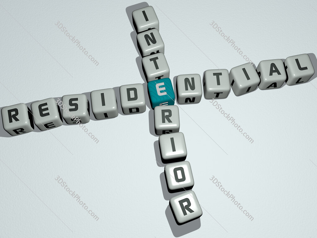 residential interior crossword by cubic dice letters
