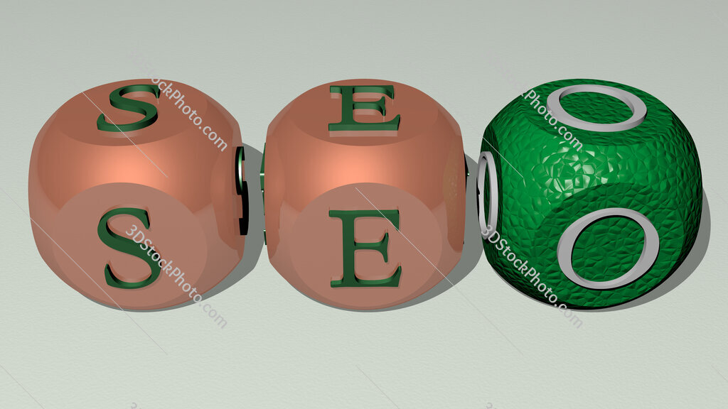 seo text by cubic dice letters