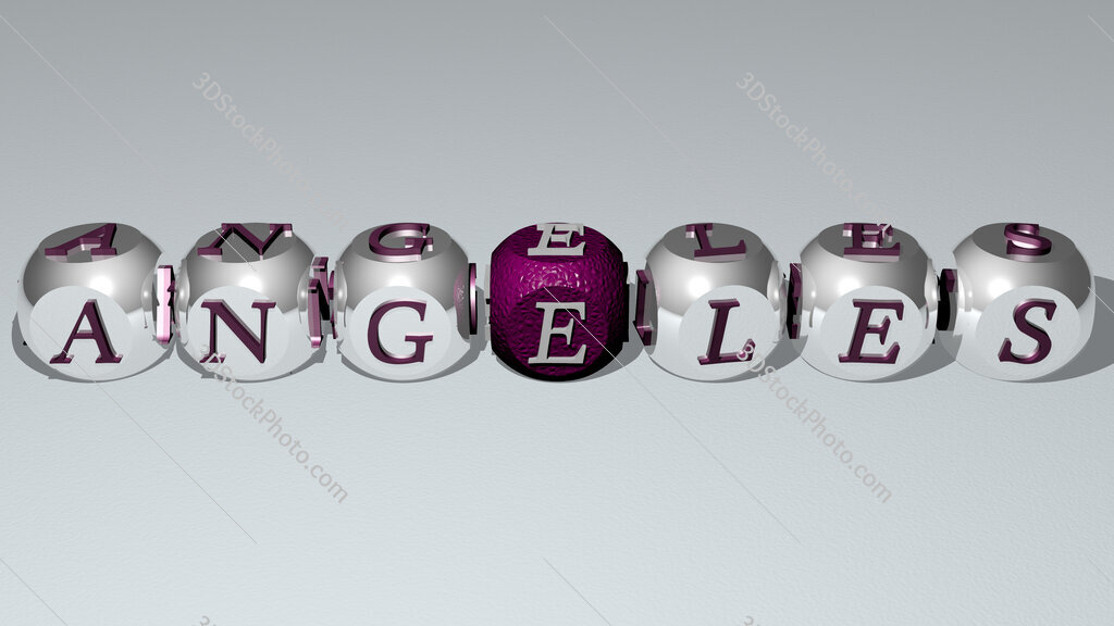 angeles text by cubic dice letters