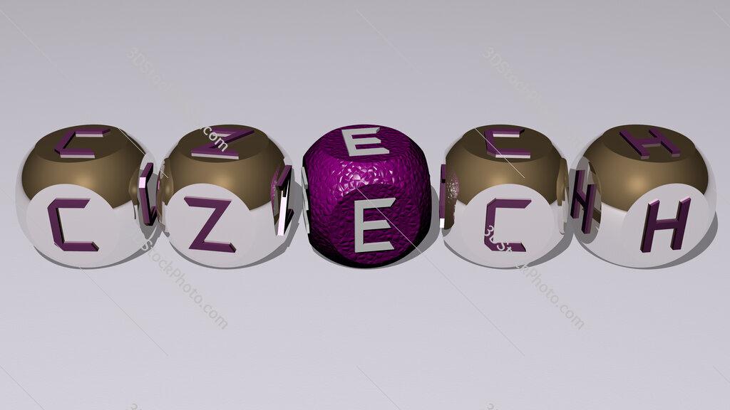 czech text by cubic dice letters