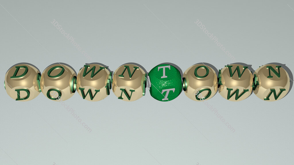 downtown text by cubic dice letters