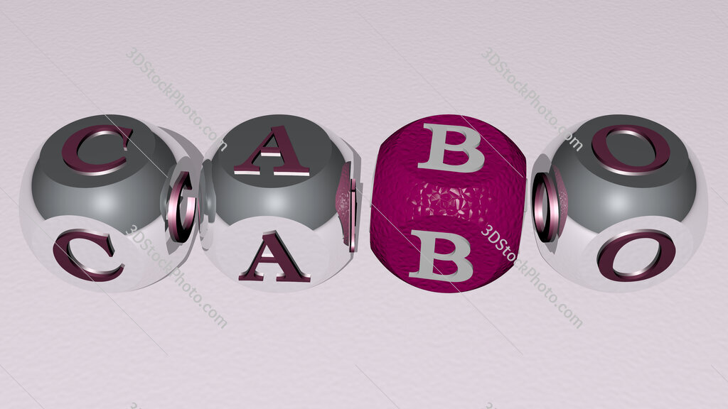cabo text by cubic dice letters
