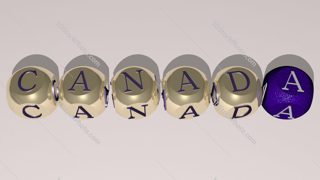 canada text by cubic dice letters