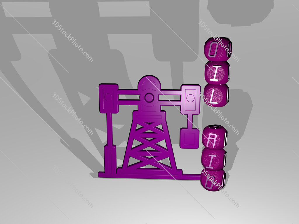oil rig text beside the 3D icon
