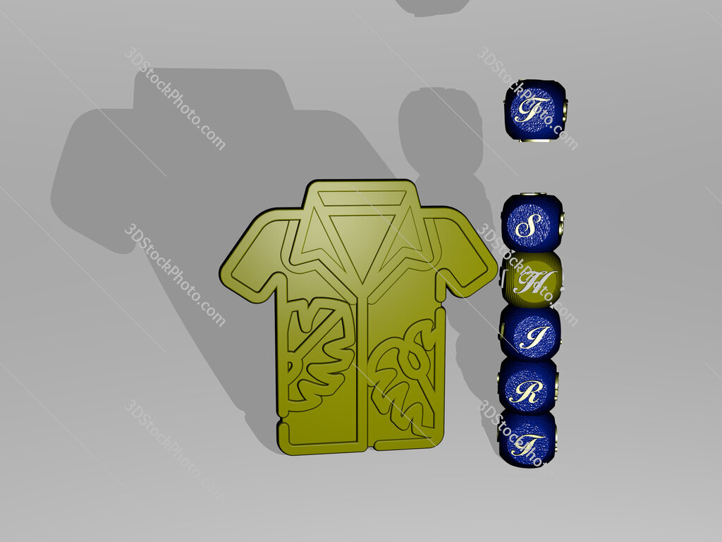 t shirt text beside the 3D icon